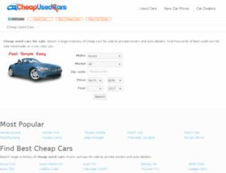 superdupercars.cheapusedcars.com screenshot