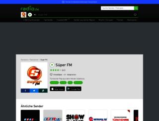 superfm.radio.de screenshot