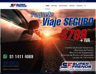 superfrenos.com.mx screenshot