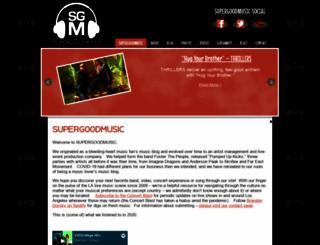 supergoodmusic.com screenshot