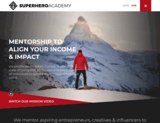 superheroacademy.net screenshot