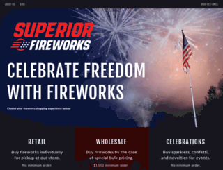 superiorfireworks.com screenshot