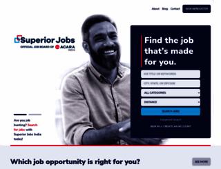 superiorjobs.in screenshot
