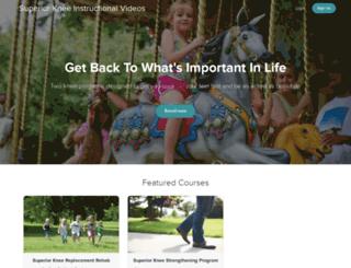 superiorkneerehab.teachable.com screenshot