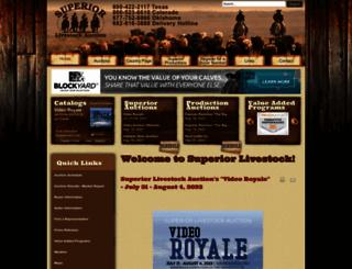 superiorlivestock.com screenshot