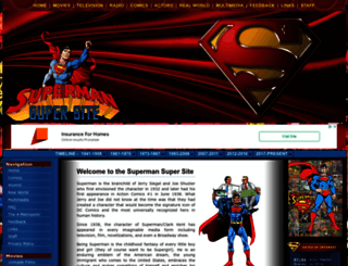 supermansupersite.com screenshot