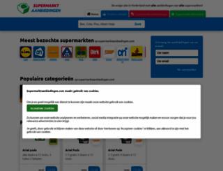 supermarktaanbiedingen.com screenshot