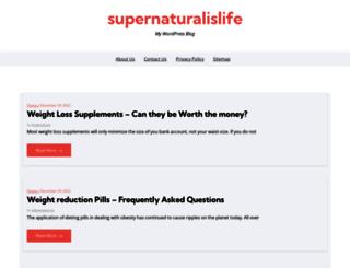 supernaturalislife.com screenshot