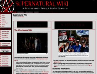 supernaturalwiki.com screenshot
