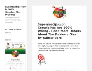 supernsetips.info screenshot