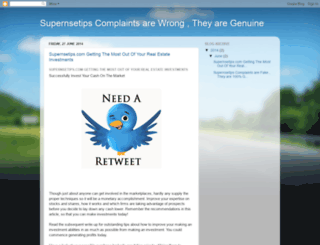 supernsetipscom-complaints.blogspot.in screenshot