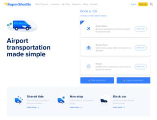 supershuttle.com screenshot