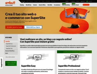 supersite.aruba.it screenshot