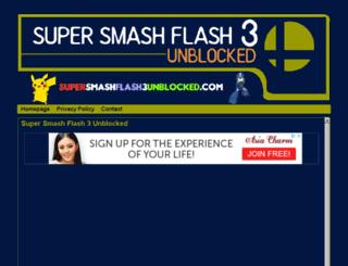 supersmashflash3unblocked.com screenshot