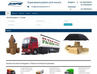 superspeedpackers.in screenshot