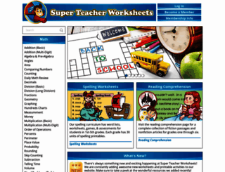 superteacherworksheets.com screenshot