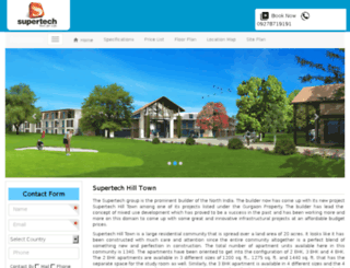 supertechhilltownsohna.co.in screenshot