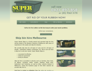 superwasteskips.com.au screenshot