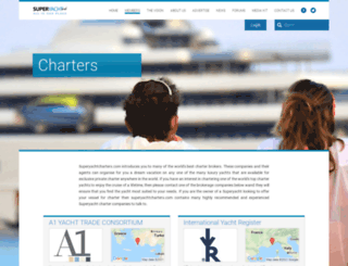 superyachtcharters.com screenshot