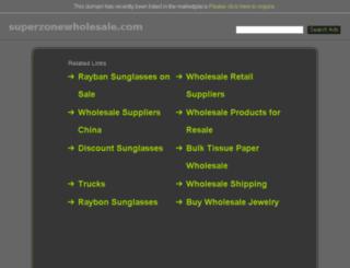 superzonewholesale.com screenshot