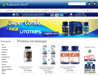 suplementostore.com.br screenshot