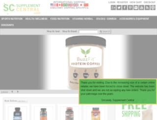 supplementcentral.com screenshot