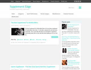 supplementedge.blogspot.com screenshot
