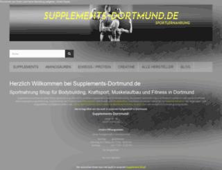 supplements-dortmund.de screenshot