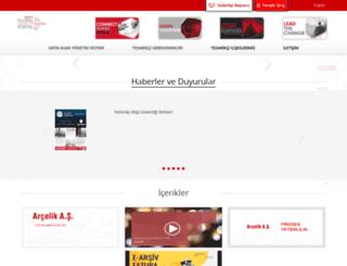 supplier.arcelik.com screenshot