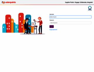 supplier.asianpaints.com screenshot