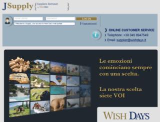 supplier.wishdays.it screenshot