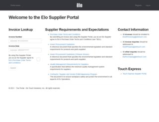 supplierportal.elotouch.com screenshot