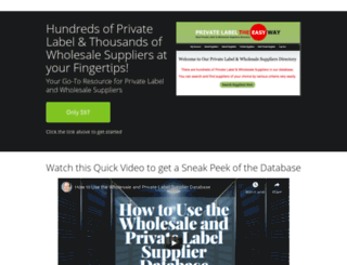 suppliers.privatelabeltheeasyway.com screenshot
