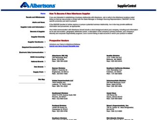 suppliers.safeway.com screenshot