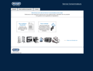 support-delonghi.fr screenshot