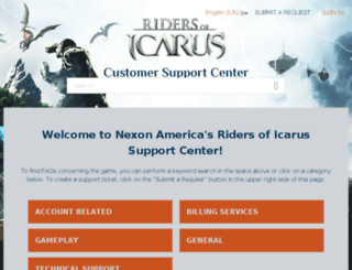 support-icarus.nexon.net screenshot