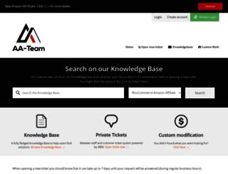 support.aa-team.com screenshot
