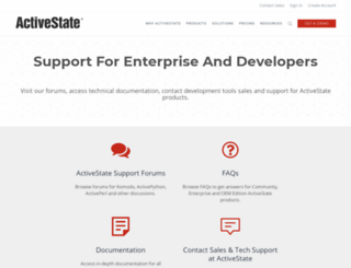 support.activestate.com screenshot