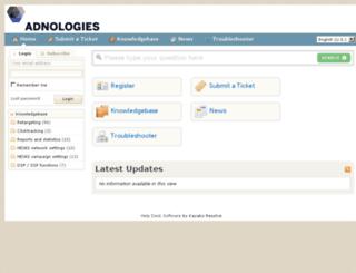 support.adnologies.com screenshot
