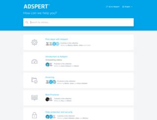 support.adspert.net screenshot