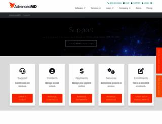 support.advancedmd.com screenshot