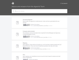 support.agworld.com.au screenshot