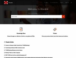 support.atandra.com screenshot