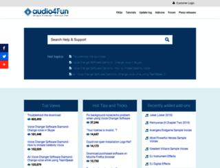 support.audio4fun.com screenshot