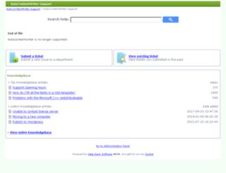 support.autocontentwriter.com screenshot