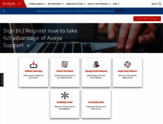 support.avaya.com screenshot
