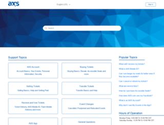 support.axs.com screenshot