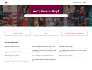 support.backdropexpress.com screenshot