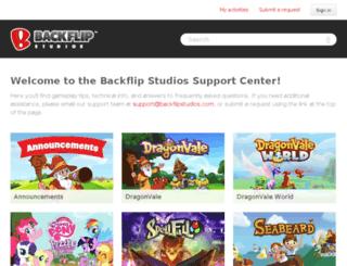 support.backflipstudios.com screenshot