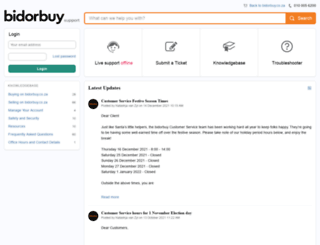 support.bidorbuy.co.za screenshot